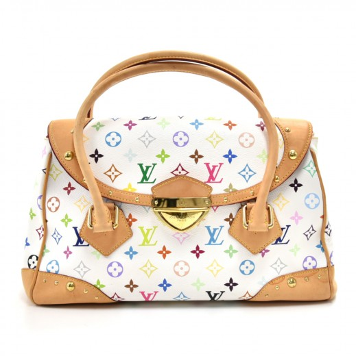 33c0c64103f5 Louis Vuitton Beverly GM White Multicolor Monogram Canvas Hand Bag.  Condition  Great   SKU  LR645. Tap to zoom