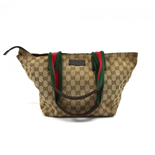 1006bf60fd4 Gucci Vintage Gucci Beige GG Original Canvas   Striped Web Strap ...
