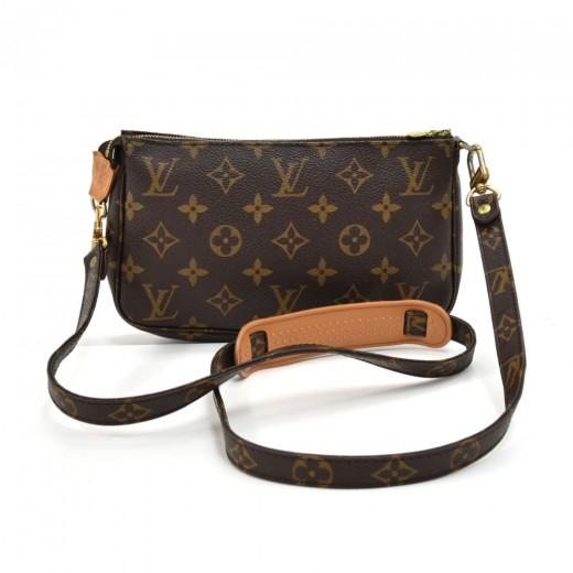 9d42998dc930 Vintage Louis Vuitton Pochette Accessoires Monogram Canvas Handbag + Strap