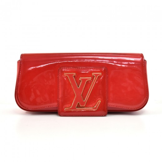 7bcd339b7a18 Louis Vuitton Louis Vuitton Pochette SoBe Red Rouge Grenadine Clutch ...