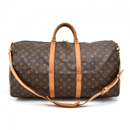 71ad1b251baa Vintage Louis Vuitton Keepall 55 Bandouliere Monogram Canvas Duffel Travel  Bag + Strap