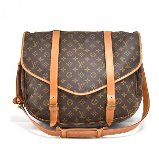 7b0a2190f89c Vintage Louis Vuitton Saumur 43 XL Monogram Canvas Messenger Bag · Louis  Vuitton Monogram Canvas Viva Cite PM ...