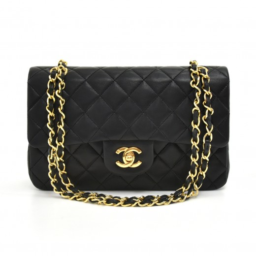 c8f90f928e9b Chanel Chanel 2.55 Double Flap Black Quilted Leather Shoulder Bag