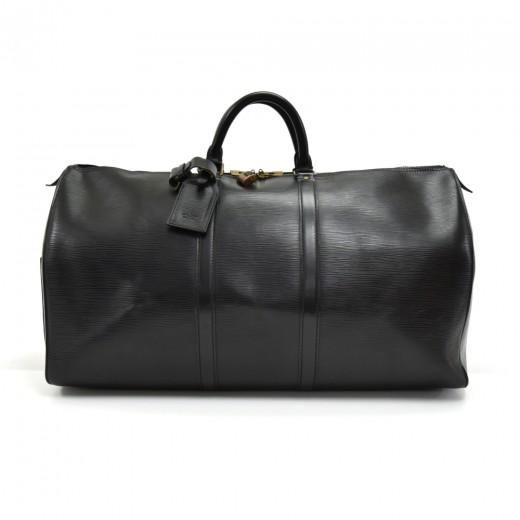 13203701071 Louis Vuitton Vintage Louis Vuitton Keepall 55 Black Epi Leather ...