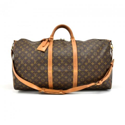 44d4ade3 Louis Vuitton Vintage Louis Vuitton Keepall 60 Bandouliere Monogram ...