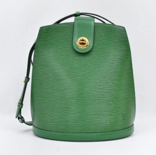 Louis Vuitton LOUIS VUITTON Cluny Green Epi Leather Shoulder Bag F382 655362e009539