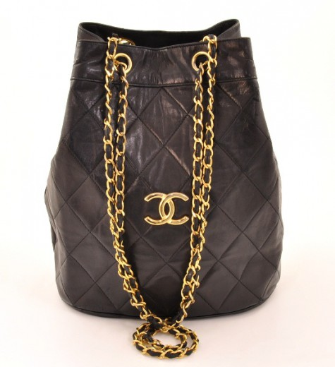 ac1d41ba2c0b Chanel Chanel Large Quilted Black Leather Tote Shoulder Chain Bag CC ...