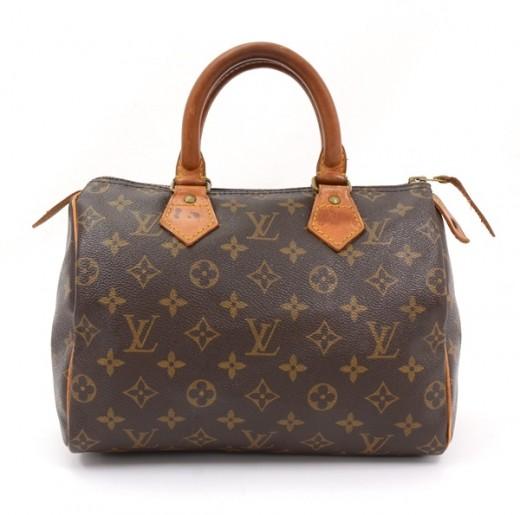 1b8a7245f8a5 Louis Vuitton Vintage Louis Vuitton Brown Monogram Canvas Speedy 25 ...