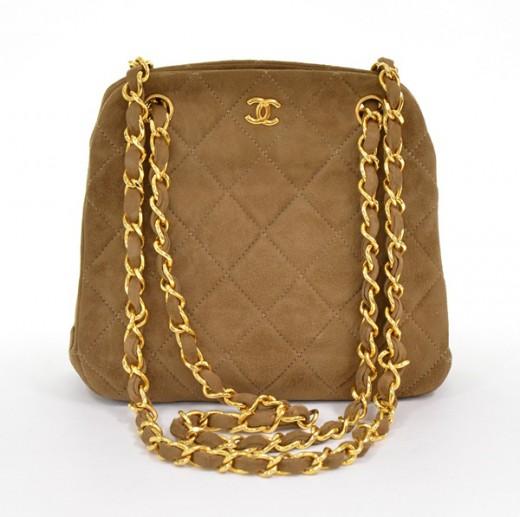 Chanel Chanel quilted Beige suede Mini Matrasse shoulder bag gold ... d68ad910366be