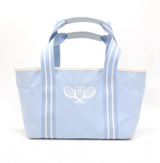 f6a71ef853285b Chanel Chanel Blue Canvas Tennis Tote Bag