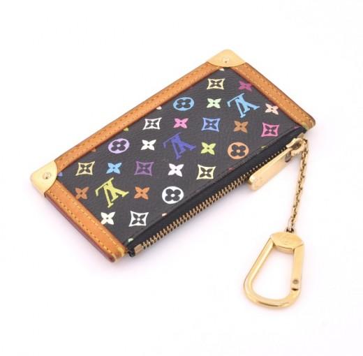 1b7dbe1e8c39 Louis Vuitton Louis Vuitton Pochette Cles Black Multicolor Monogram ...