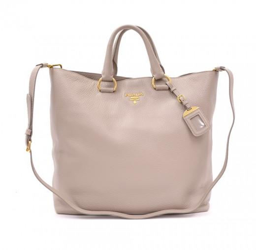893544427e86 Prada Prada BN1713 Lilac Vit Daino Leather 2 way Hand Bag + Shoulder ...