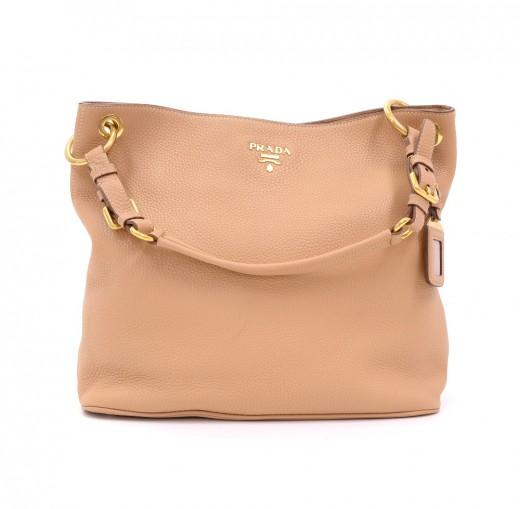 678147de9917 Prada Prada BR4892 Beige Vit Daino Leather Tote Bag