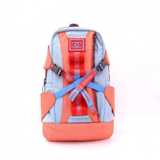 529c2a6d2 Chanel Chanel Sports Line Red x Blue Canvas Backpack Bag