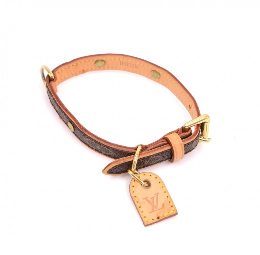 27e8463a2c56 Louis Vuitton Louis Vuitton Collier Baxter PM Monogram Leather Dog ...