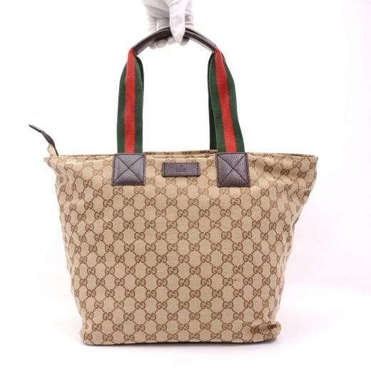 151c4278f Gucci Gucci Brown Monogram Canvas Tote Handbag