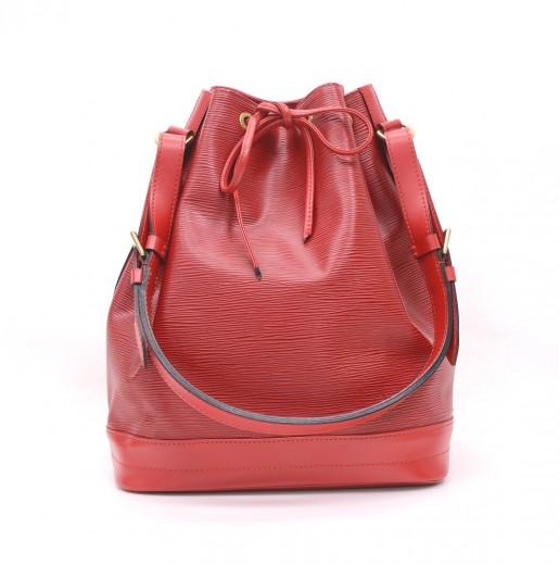 1ac6852fec75 Louis Vuitton Louis Vuitton Noe Red Epi Leather Large Shoulder Bag