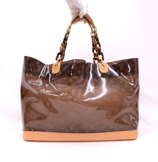 288e70182fe2 Louis Vuitton Louis Vuitton Clear Sac Cabas Ambre GM Monogram Vinyl ...