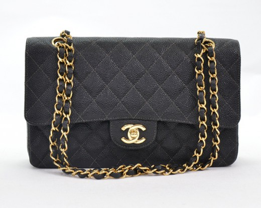 ad15ae68e2af Chanel Chanel Black Caviar Quilted Leather 2.55 10