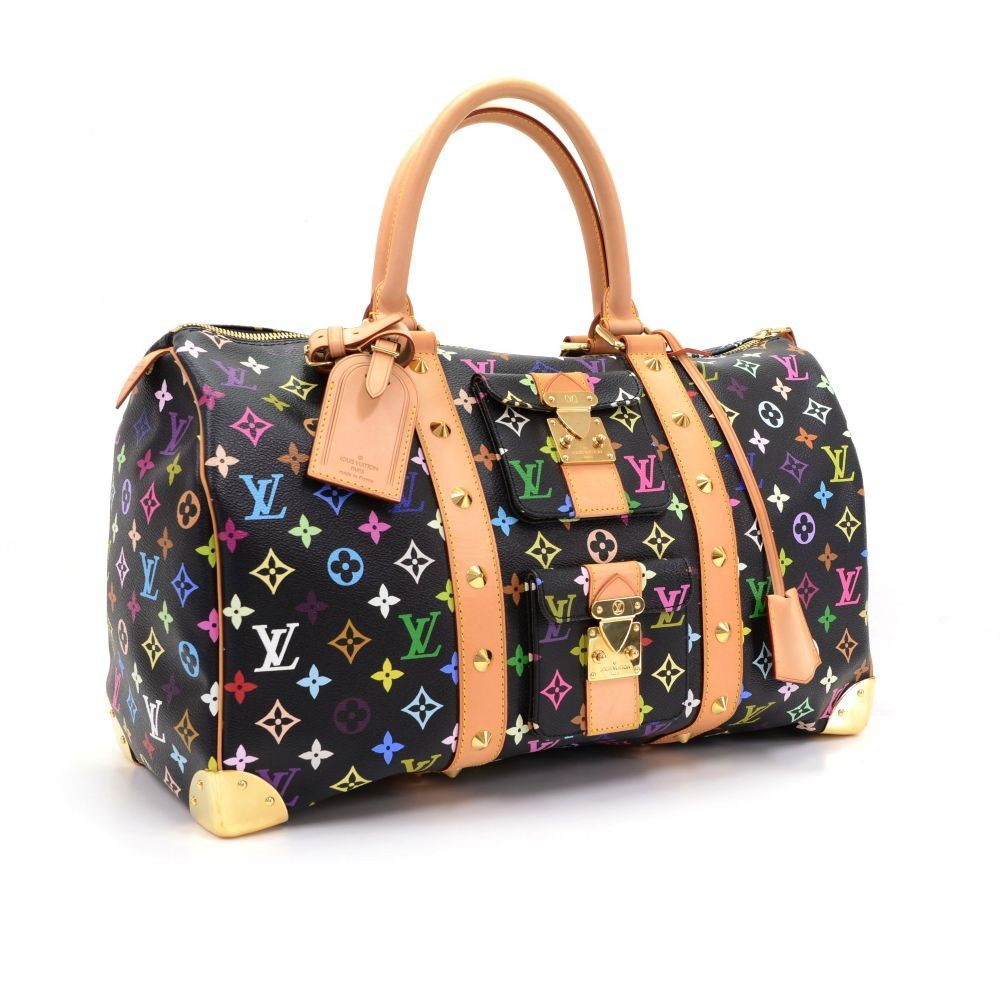 59191e125f15 Louis Vuitton Louis Vuitton Keepall 45 Black Multicolor Monogram ...