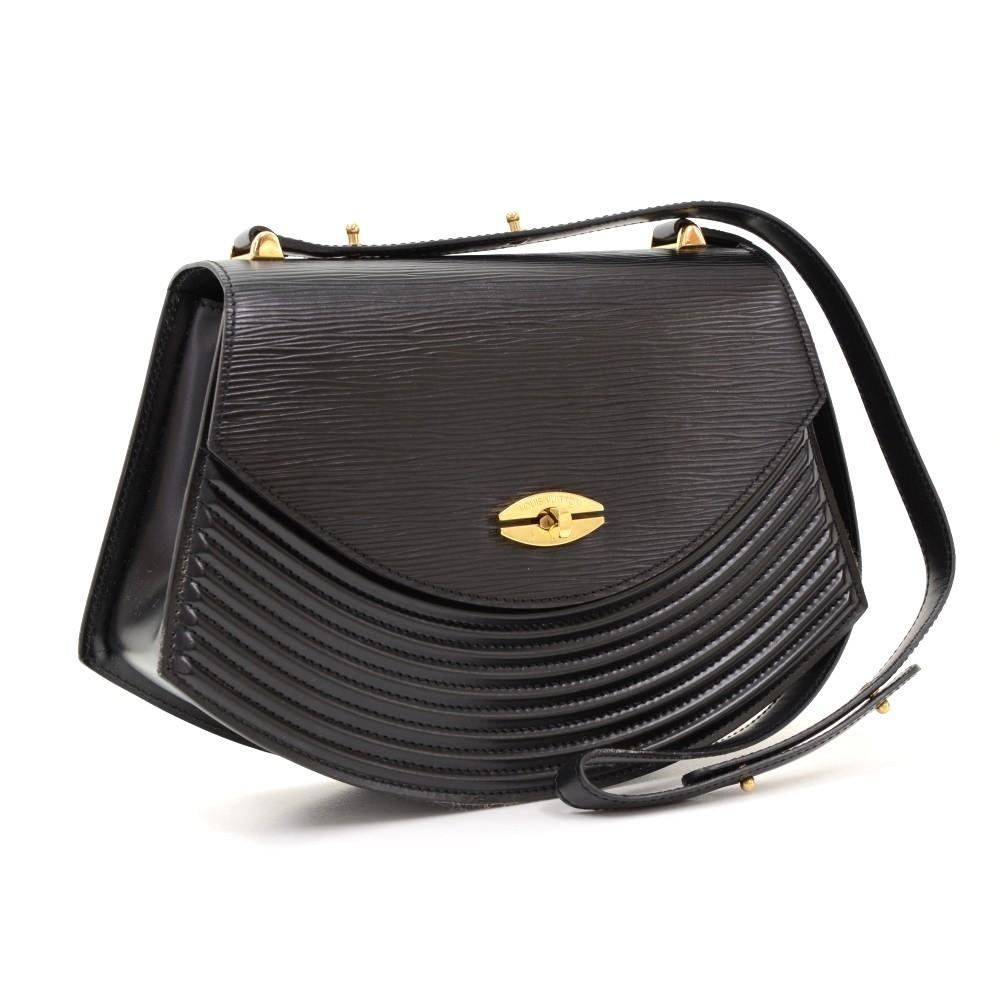 Louis Vuitton Tilsitt Black Epi Leather Shoulder Pochette Bag McVbEd