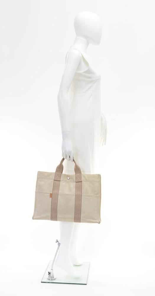replica hermes handbags uk - hermes fourre tout mm brown x beige cotton tote hand bag, hermes ...