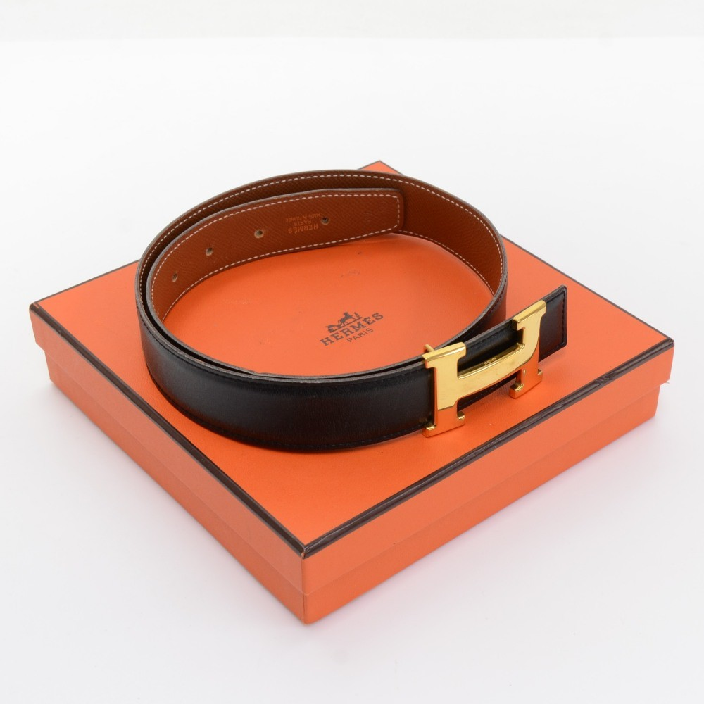 brighton look alike jewelry - hermes red x black leather x gold tone h buckle belt size 70 ...