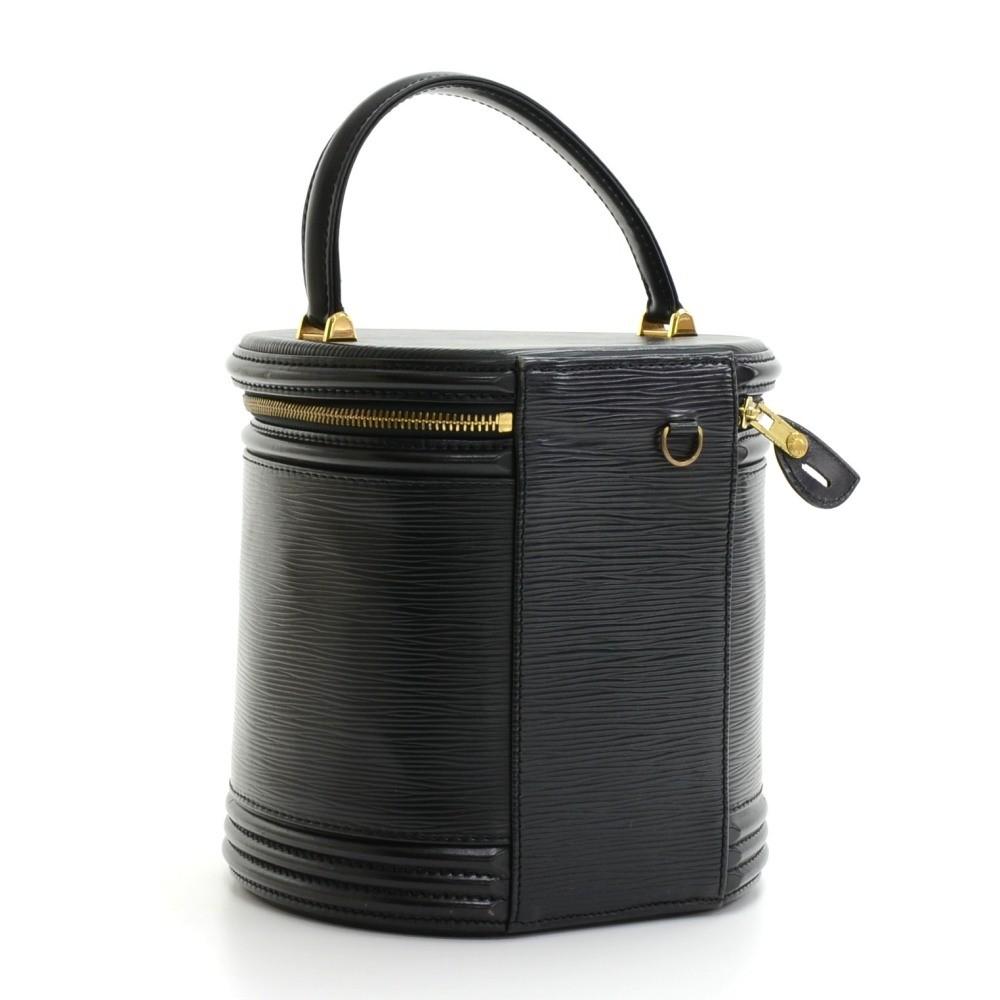 5ea8ca01b611 Louis Vuitton Louis Vuitton Cannes Black Epi Leather Vanity Hand Bag