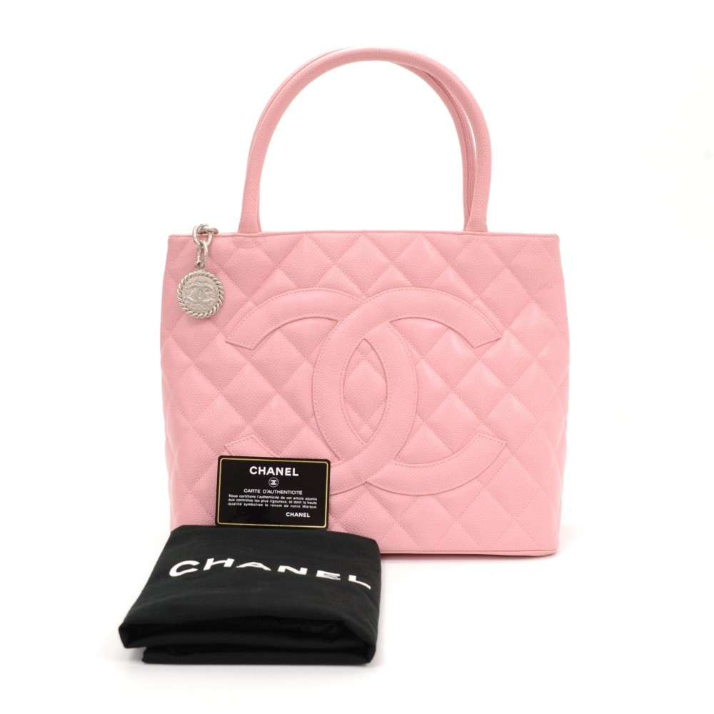 06d47907e51e Chanel Chanel Revial Pink Quilted Caviar Leather Tote Hand Bag