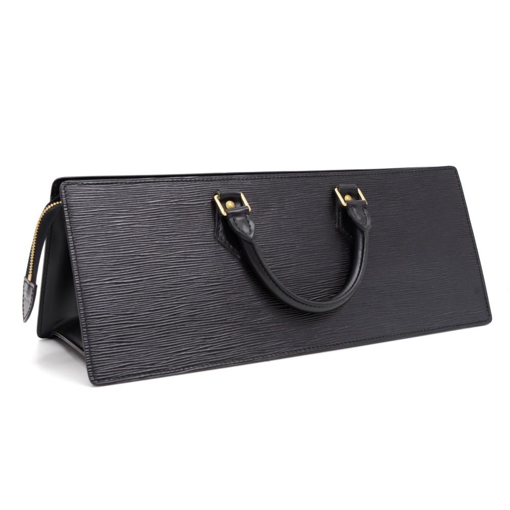 a90fd0ea1488 Louis Vuitton Vintage Louis Vuitton Sac Triangle Black Epi Leather ...