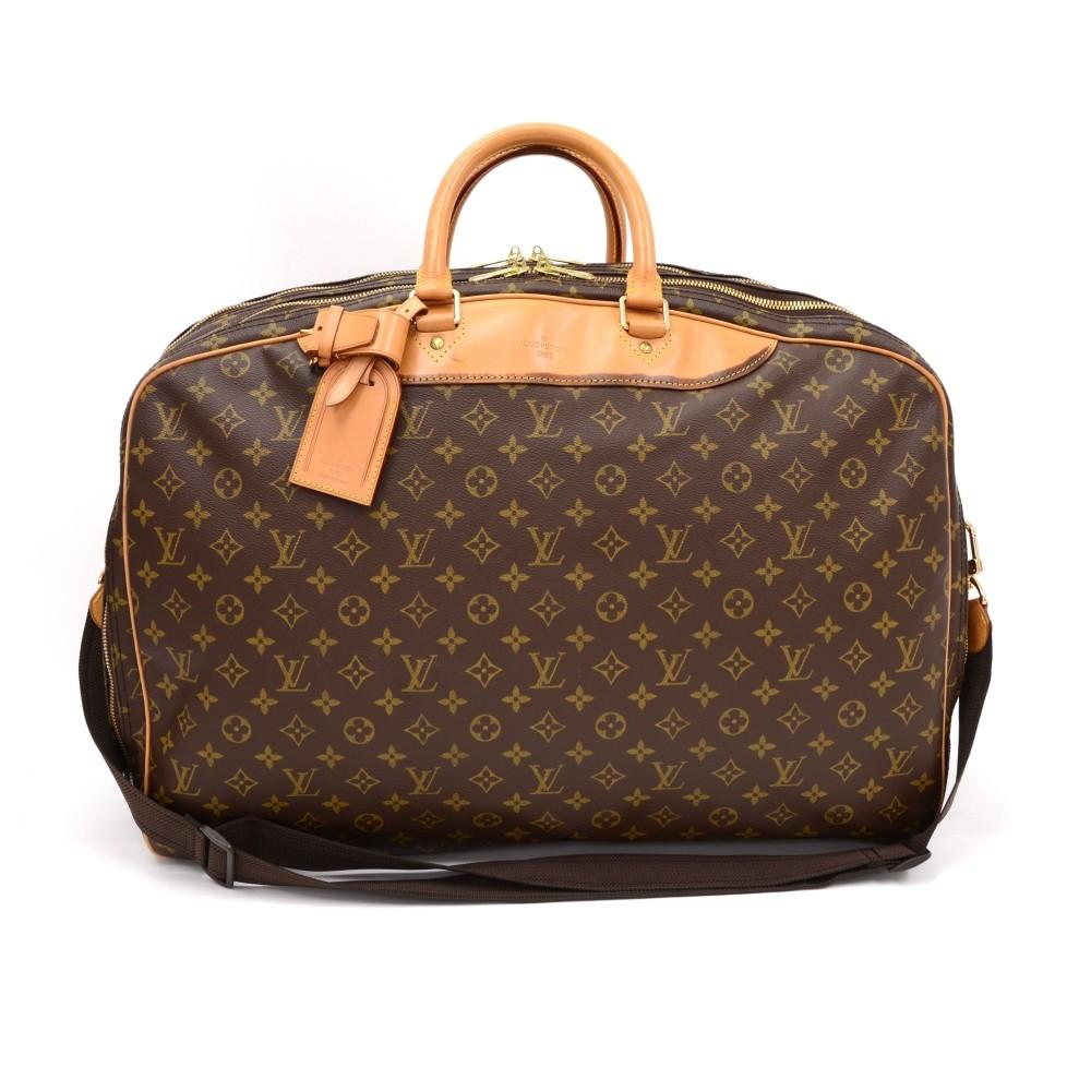 Vintage Louis Vuitton Alize 2 Poches Monogram Canvas Travel Bag + Strap 43258f5fb52e3