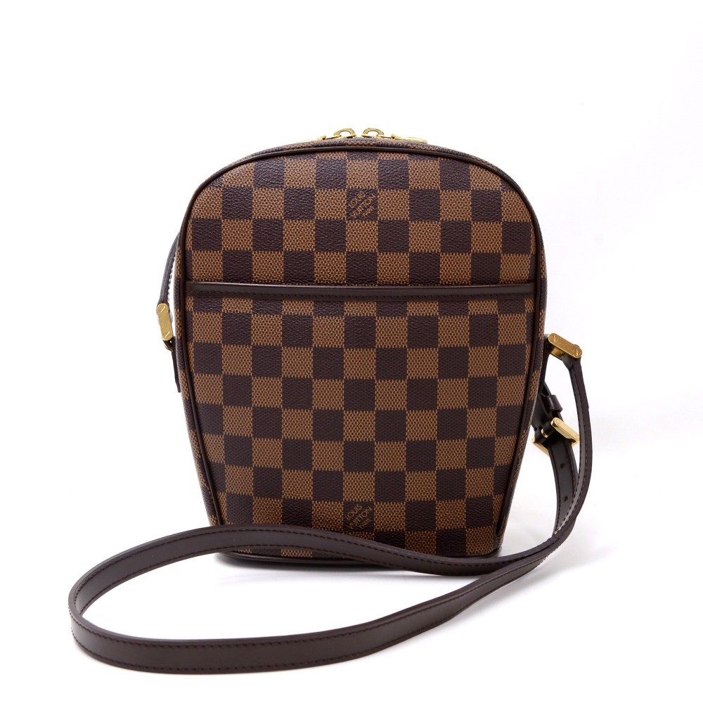 349861276cd Louis Vuitton Louis Vuitton Ipanema PM Ebene Damier Canvas Shoulder ...