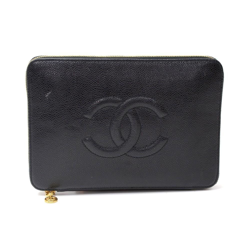 Chanel Chanel Black Caviar Leather Zippy Organizer Wallet a8012aed2e
