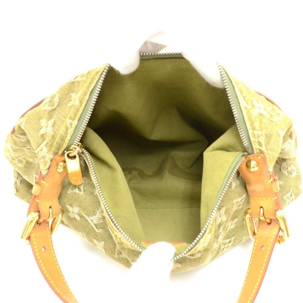 Louis Vuitton Baggy Pm Green Monogram Denim Shoulder Bag - 2006 Limited lJtuTtgh5
