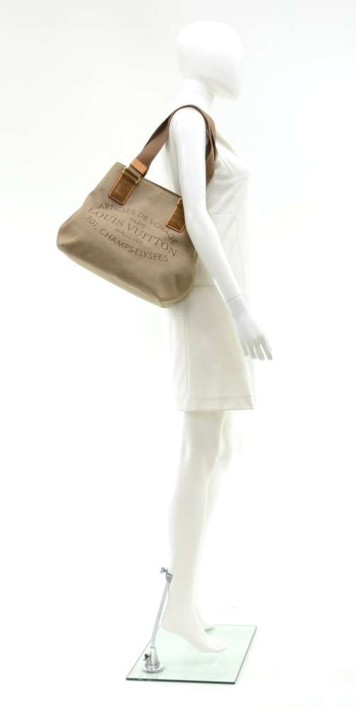 0bdca7ac83 Louis Vuitton Louis Vuitton Plein Soleil Beige Denim Tote Bag 2012 ...
