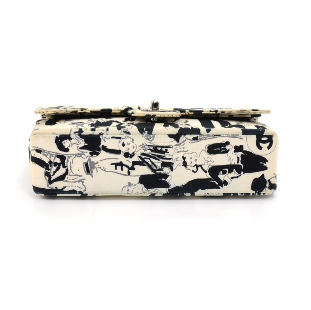 62b58bb863c3 Chanel Chanel 2.55 Double Flap White Karl Lagerfeld Sketch Shoulder ...
