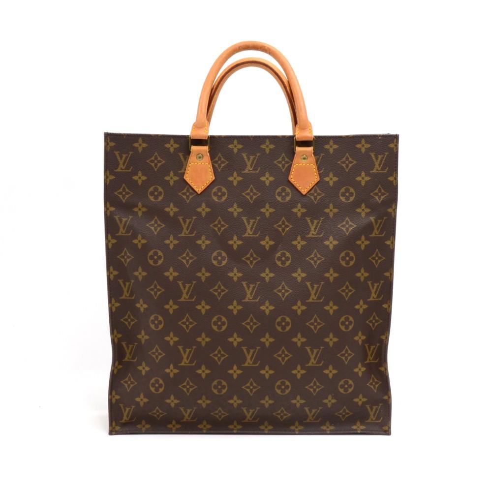b1cabfa427d9 Louis Vuitton Vintage Louis Vuitton Sac Plat Monogram Canvas Tote ...