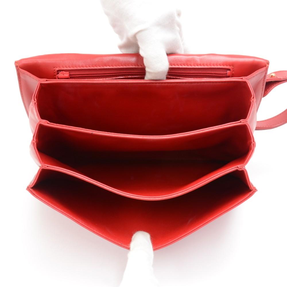 a0c3f5c761b Vintage Louis Vuitton Opera Line Delphes Red Leather Shoulder Bag