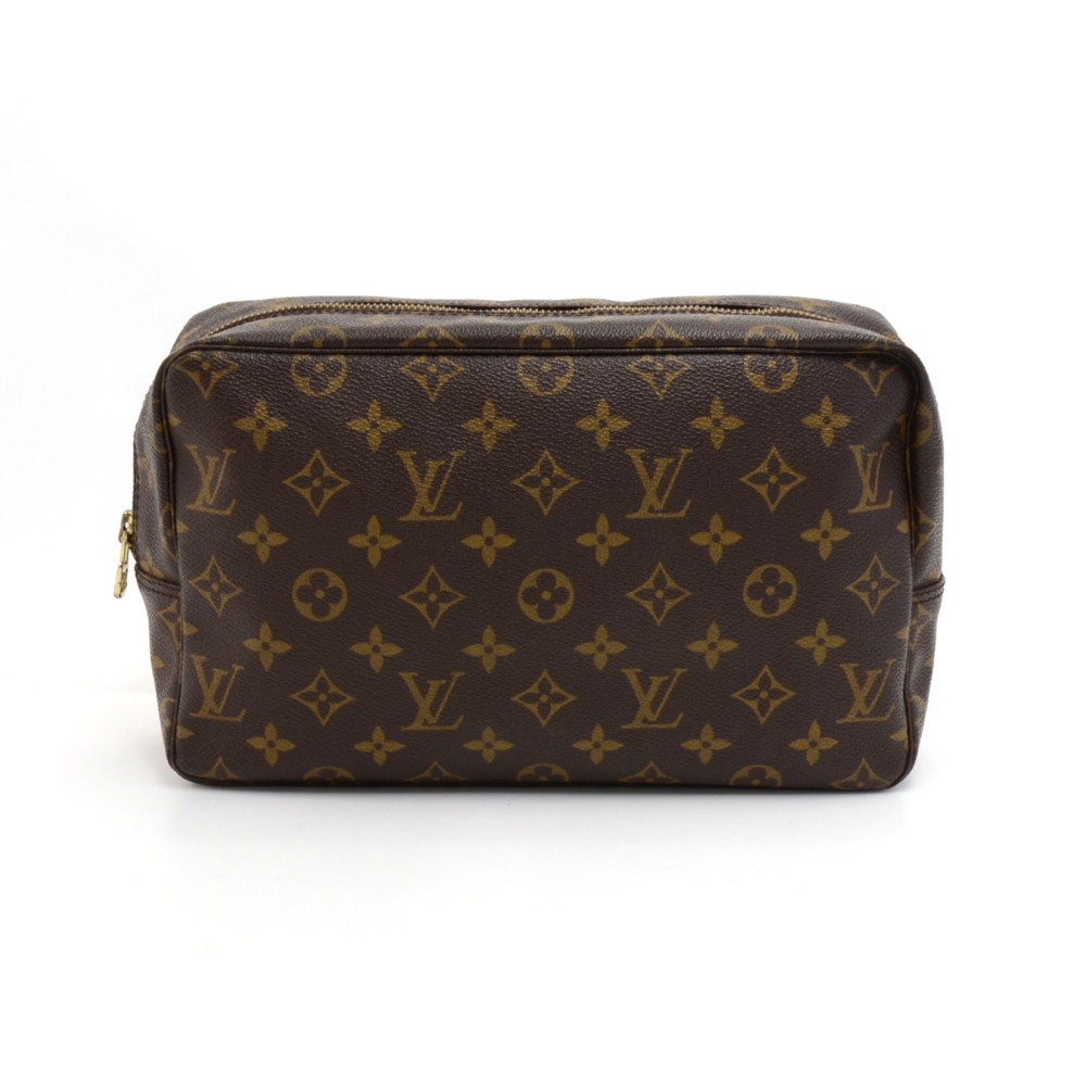 Vintage Louis Vuitton Trousse Toilette 28 Monogram Canvas Cosmetic Pouch 4823992e07529