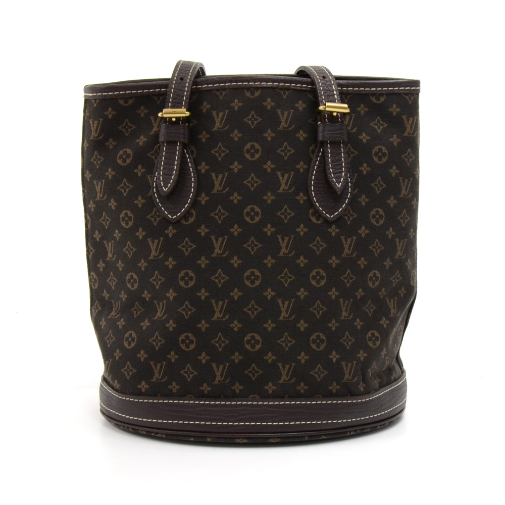 6b5f83f6bb6c Louis Vuitton Louis Vuitton Bucket PM Ebene Monogram Mini Lin Canvas ...