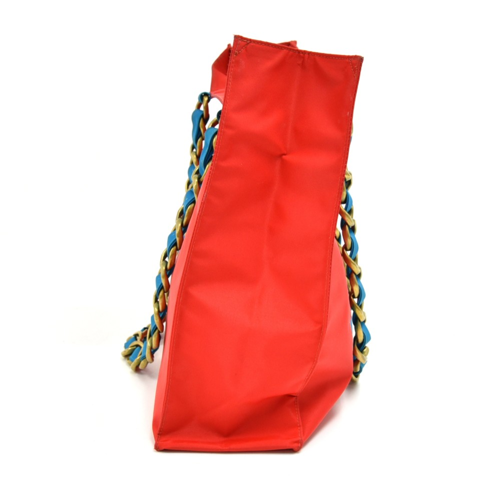 e895fa84b29 Chanel Vintage Chanel Red & Blue Nylon Jumbo Shopping Tote Bag