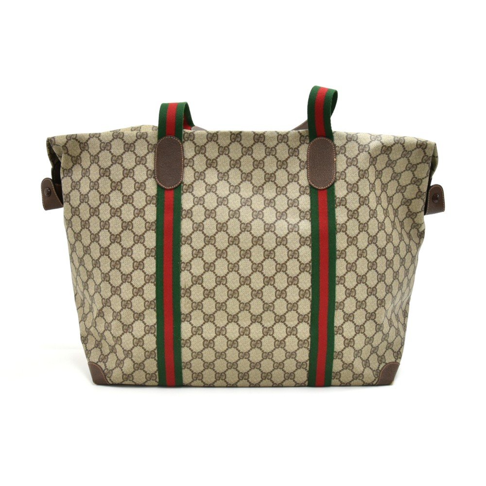 83148f580d4 Vintage Gucci Accessory Collection GG Supreme Coated Canvas Boston Travel  Bag