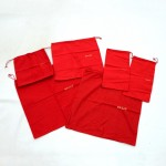 Bally Red Dust Bag x 6in various sizes