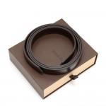 Louis Vuitton Dark Brown Detachable Leather Strap For Damier Ebene Canvas Bags