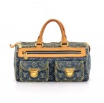 Louis Vuitton Neo Speedy Blue Monogram Denim Handbag