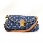 Louis Vuitton Mini Pleaty Blue Monogram Denim Shoulder Hand Bag