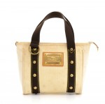 Louis Vuitton Cabas PM White Antigua Canvas Hand Bag -  2006 Limited