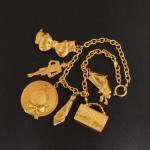 Vintage Chanel Gold Tone Pendant Necklace