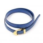 Louis Vuitton Ceinture Classique Blue Epi Leather Thin Belt