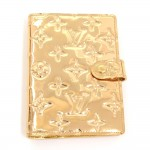 Louis Vuitton Agenda PM Gold Monogram Miroir Leather 6 Rings Agenda Cover - Limited